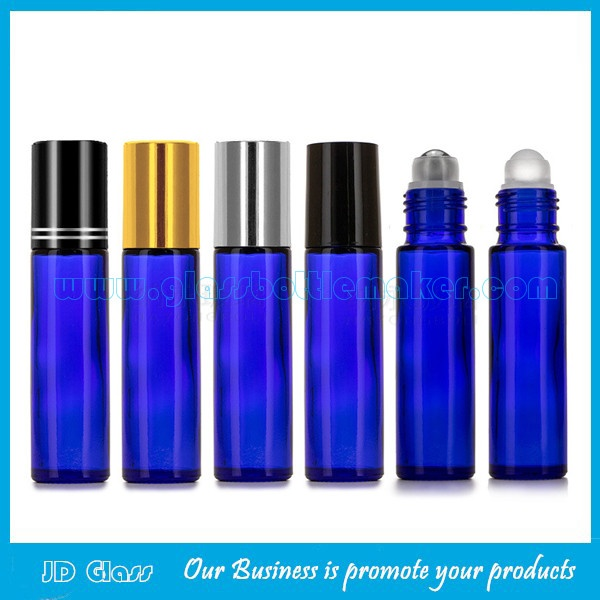 10ml Blue Perfume Roll On Bottles With Caps and Roller