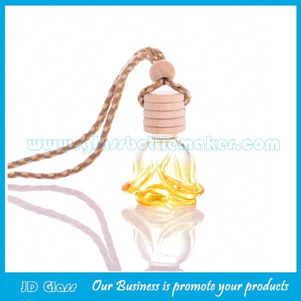 6ml Car Perfume Glass Bottles With Wood Cork and Wire