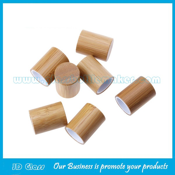 10ml Clear Perfume Roll On Bottle With Bamboo Cap and Roller
