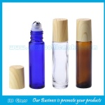 10mlClear,Amber and Blue Perfume Roll On Bottle With Water Transfer Printing Cap and Roller
