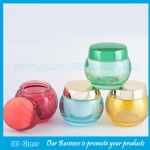 50g Colored Glass Cosmetic Jar With Lid For Facial Mask