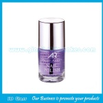 12ml Clear Round Glass Nail Polish Bottle With Cap and Brush