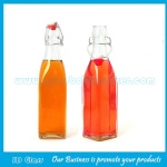 250ml Clear Square Swing Top Beverage Glass Bottle
