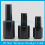 Black Glass Nail Polish Bottle With Black Cap and Brush