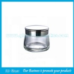 130g Clear New Model Glass Cosmetic Jar With Silver or Gold Lid