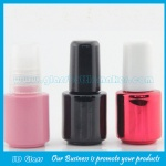 Round Glass Nail Polish Bottle With Cap and Brush