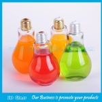 400ml New Design Bulb Glass Juice Bottles