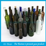 Clear, Frost,Green,Blue,Amber Wine Glass Bottles