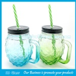 16oz Clear New Item Glass Mason Jar With Handle