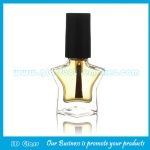 8ml Clear Star Glass Nail Polish Bottle With Cap and Brush