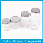 100ml-1000ml Clear Glass Mason Jars With Lids