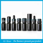 10ml Black Round Essential Oil Glass Bottles With Droppers and Caps