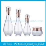 New Items 40ml,100ml,120ml Clear Glass Lotion Bottles And 50g Glass Cosmetic Jar For Skincare