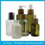 30ml,60ml Frost Olive Green Glass Lotion Bottles With Bamboo Droppers or Pumps