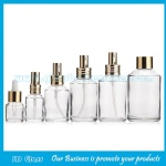 15ml-200ml Clear Sloping Shoulder Glass Lotion Bottles With Caps and Pumps