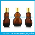 30ml and 50ml New Item Amber Double Calabash Essential Oil Bottles With Caps