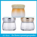 100g Clear New Model Glass Cosmetic Jars With Lids For facemask
