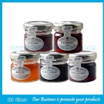 25ml Mini Round Clear Glass Jam Jars With Lids
