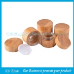 15g,20g,30g,50g,100g Eco Friendly Bamboo Cosmetic Jars With Glass Jar Inside and Bamboo Lids