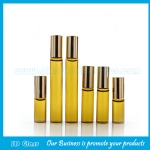 3ml,5ml,10ml Amber Perfume Roll On Bottles With Gold Cap and Roller