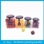 Clear Square Glass Jam Jars With Lids