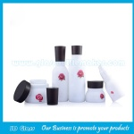 High Quality Opal White Glass Lotion Bottles For Herbal Skincare and Glass Cream Jar