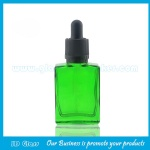 30ml Flat Square Electronic Cigarette Oil Glass Bottle With Dropper